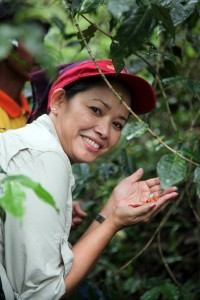 Joji Felicitas Pantoja, CEO of Coffee for Peace, a social enterprise based in the Philippines
