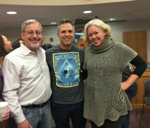 Pictured: Matt Patsky, Mark Ruffalo (Actor & Activist) & friend