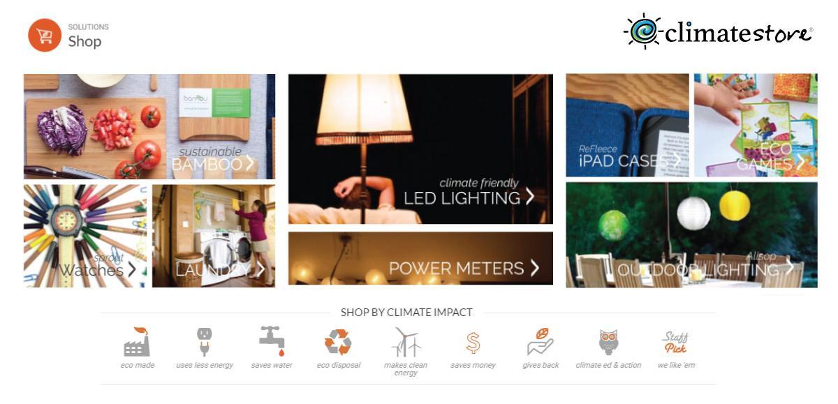 ClimateStore website