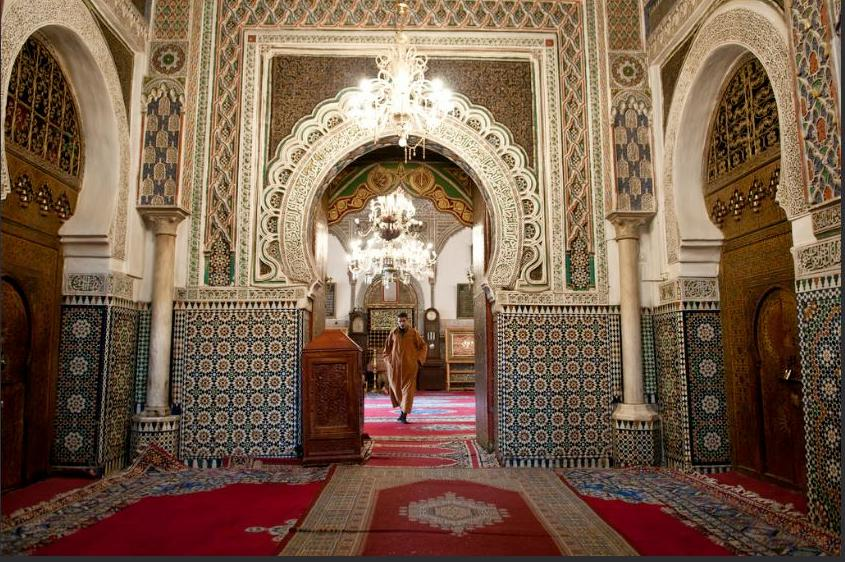 Inside a mosque in Fez, Morocco, January 2011. (Photo by Anna & Michal) Creative Commons license via Flickr.