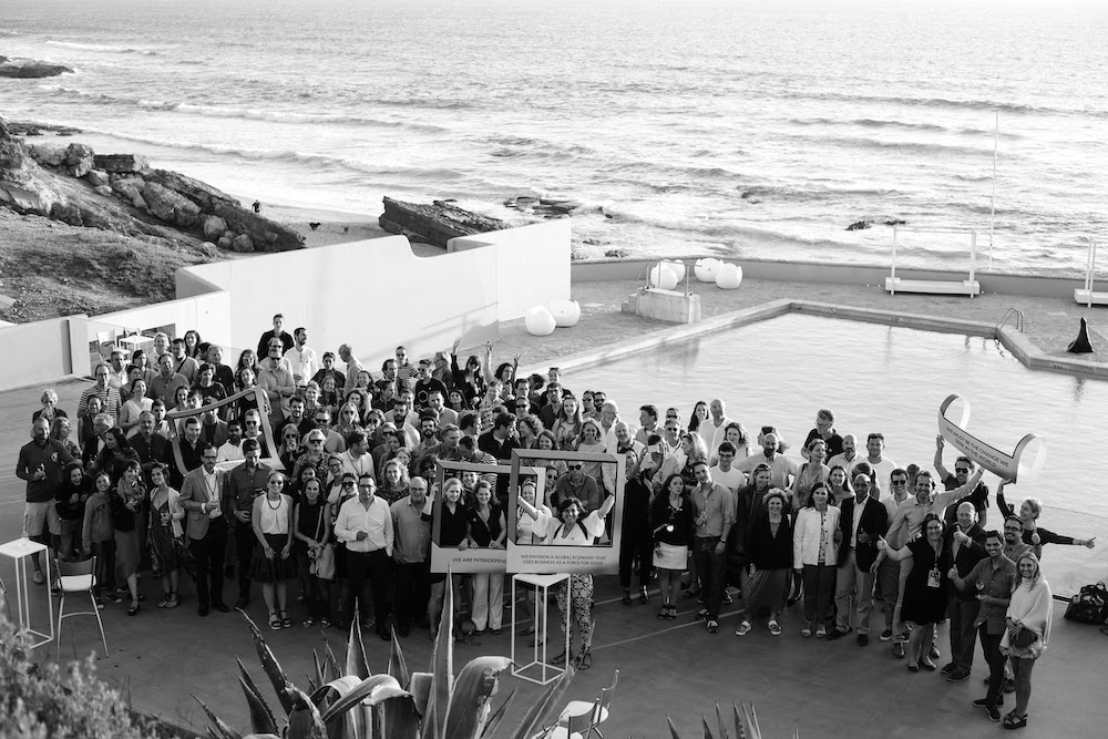 WHY WEREN'T WE INVITED? European B Corps pose for a group picture during their summer summit in Cascais, Portugal.